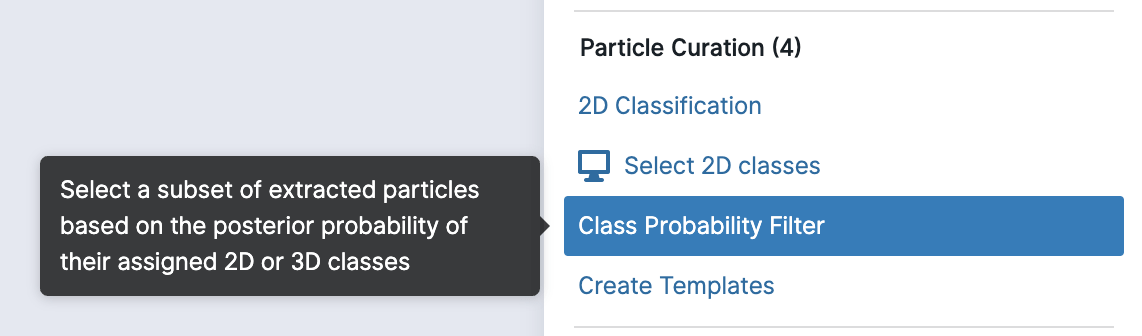 New Particle Class Probability Filter job